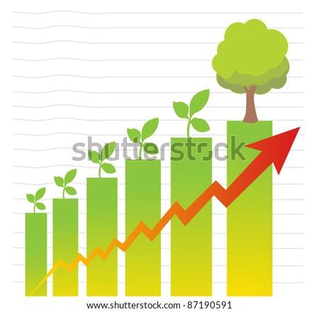 graphs planting greening the city - stock vector