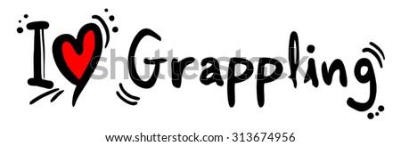 Grappling love - stock vector