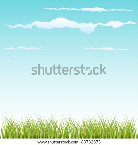grass and sky - stock vector