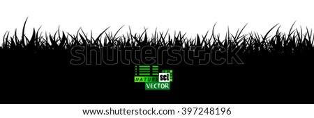 Grass background. Vector - stock vector