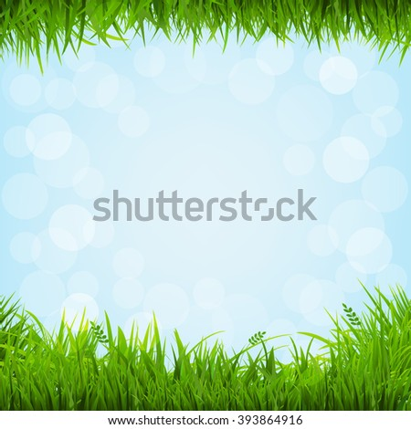 Grass Borders With Gradient Mesh, Vector Illustration - stock vector