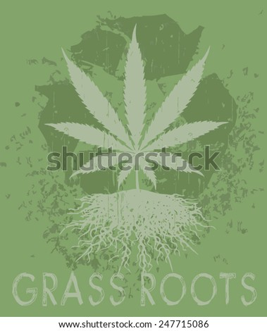 grass roots - stock vector