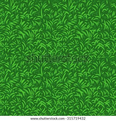 Grass seamless vector pattern. - stock vector