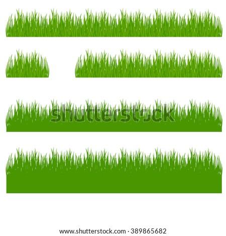 grass, shrubs - stock vector