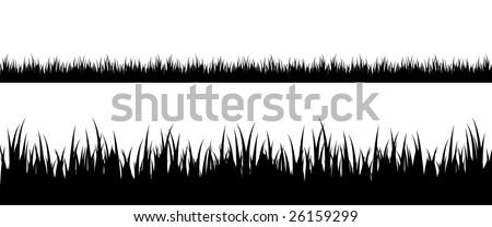 Grass silhouette - stock vector