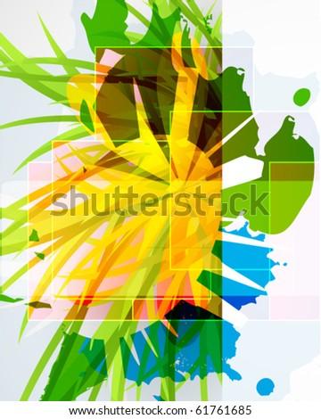 Grass. Vector floral composition. - stock vector