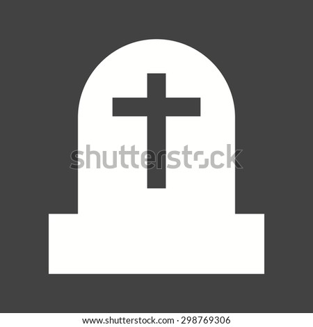 Grave, death, funeral icon vector image.Can also be used for halloween, celebration, observances and holidays. Suitable for mobile apps, web apps and print media.