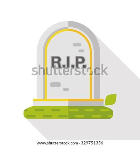 grave flat icon - stock vector