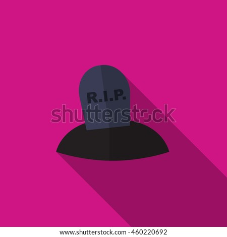 Grave flat icon illustration isolated vector sign symbol - stock vector