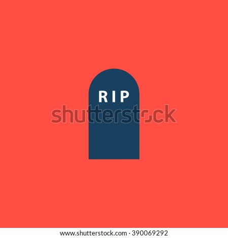 Grave. Flat simple modern illustration pictogram. Collection concept icon for infographic project and logo - stock vector