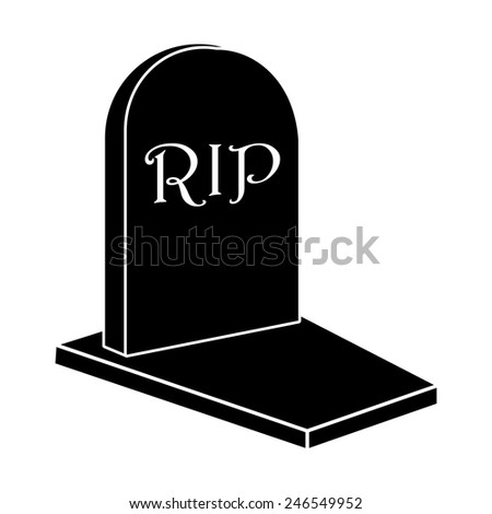 grave icon - stock vector