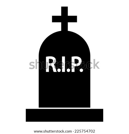 Grave icon on white background. Vector illustration. - stock vector