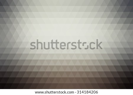 Gray abstract geometric background formed with triangles in rows.
