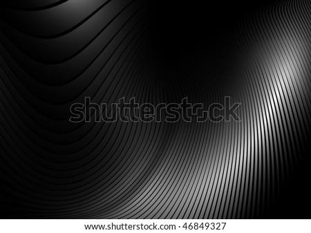 Gray abstract vector shape - stock vector