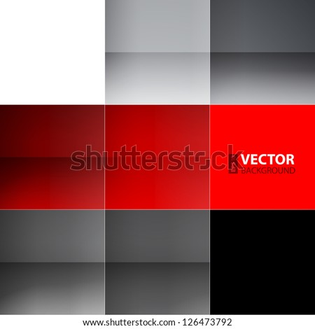 Gray and red squares abstract background. RGB EPS 10 vector illustration - stock vector