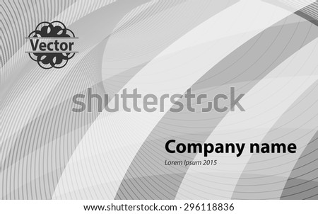 Gray background with diagonal stripes. Horizontal minimal backdrop. Can be use for cover cataloges, business card or other print. Vector version  - stock vector