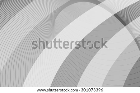 Gray background with diagonal stripes. Smooth transitions lines. Horizontal minimal backdrop. Can be use for cover cataloges, background for posters, business card or other print. Vector version  - stock vector