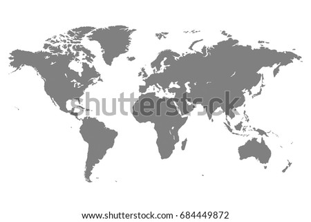 Gray blank vector world map isolated stock vector 418128811 gray blank vector world map isolated on white background sciox Gallery