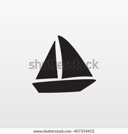 Gray Boat icon isolated on background. Modern flat pictogram, business, marketing, internet concept. Trendy Simple vector symbol for web site design or button to mobile app. Logo illustration  - stock vector