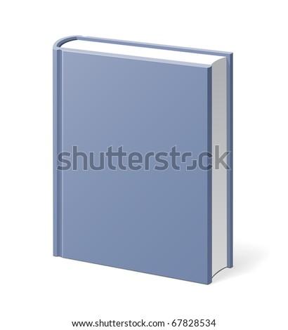 Gray book vector illustration - stock vector