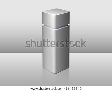 gray bottle of perfume - stock vector