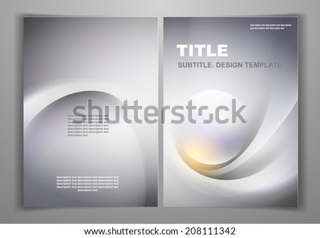 Gray Business Front and Back Flyer Template - stock vector