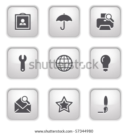 Gray button for internet 9