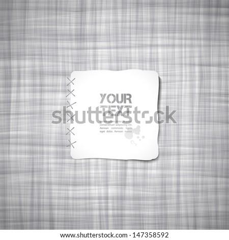 gray canvas texture, vector background - stock vector