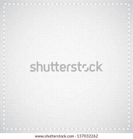 gray canvas texture with thread, vector background - stock vector