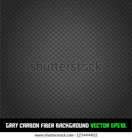 GRAY carbon fiber background VECTOR EPS10. - stock vector