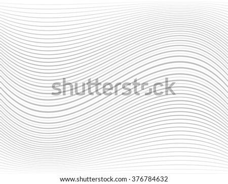 Gray Curved Vector Lines Background . - stock vector