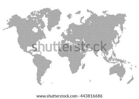 World map vector isolated on white stock vector 400503298 gray dotted world map isolated on background blank point template for infographic cover design gumiabroncs Gallery
