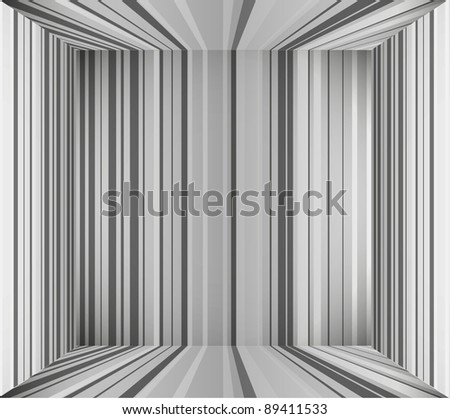 Gray empty interior background. Vector illustration. eps10 - stock vector