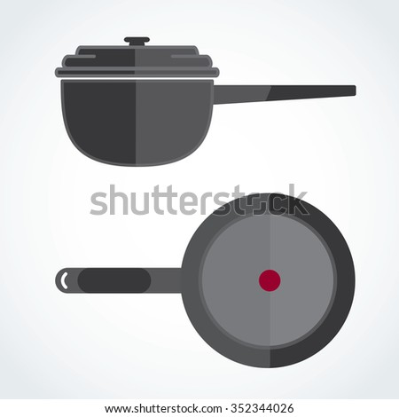 Gray fired two blade angle on the corner - stock vector