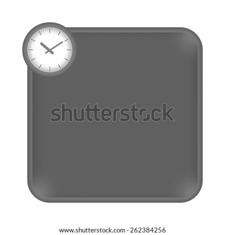 gray frame for any white text and watches - stock vector