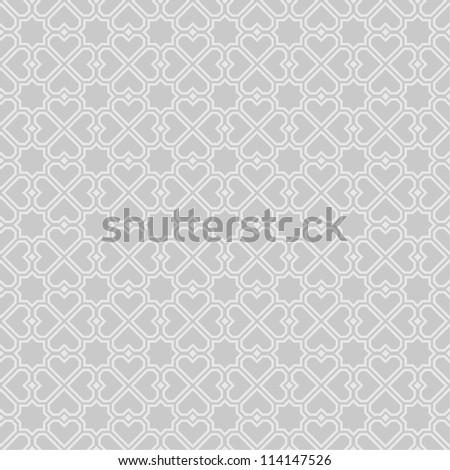 Gray geometric pattern.Vector seamless - stock vector