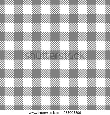 gray gingham tablecloth seamless pattern background - stock vector