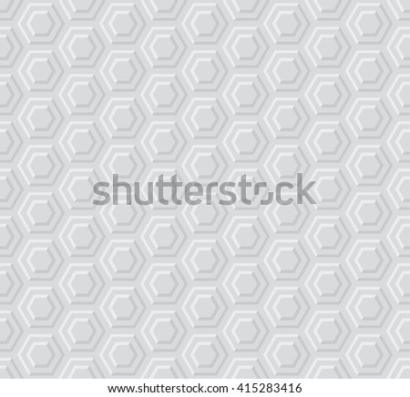 gray light color 3d geometric pattern  - stock vector