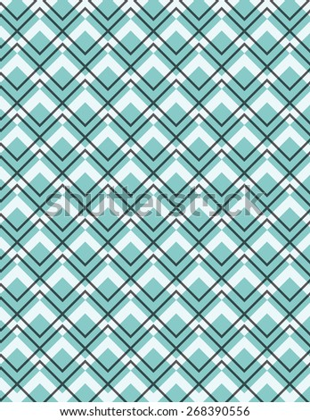 Gray line pattern over blue square background - stock vector