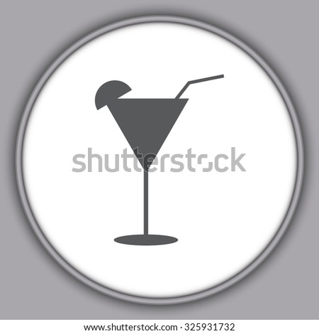 Gray Martini glass
