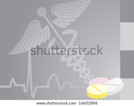 gray medical background with medicine