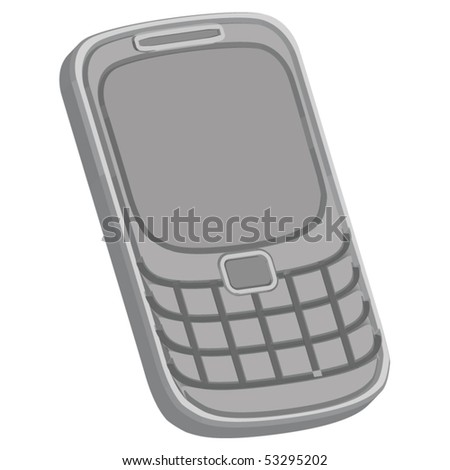 Gray phone - stock vector