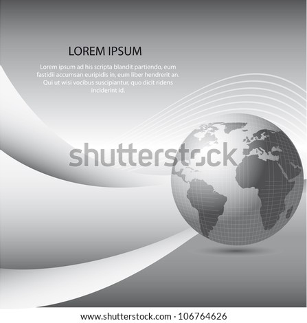 gray planet with space for copy. vector illustration - stock vector