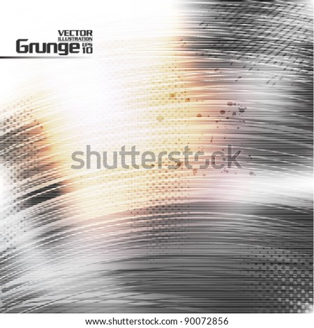 gray scratches metallic texture vector background - stock vector