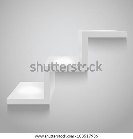 Gray shelf, vector eps10 illustration - stock vector