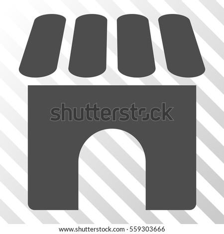 Gray Shop interface toolbar pictogram. Vector pictograph style is a flat symbol on diagonal hatch transparent background.