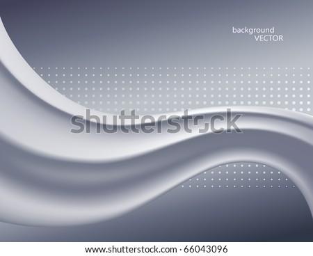 Gray silk flow vector background - stock vector