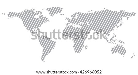 gray similar world map blank vector flat template object infographic clean art card stock