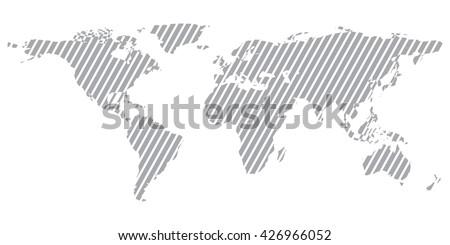 Gray similar world map. World map blank. World map vector. World map flat. World map template. World map object. World map infographic. World map clean. World map art. World map card - stock vector. - stock vector