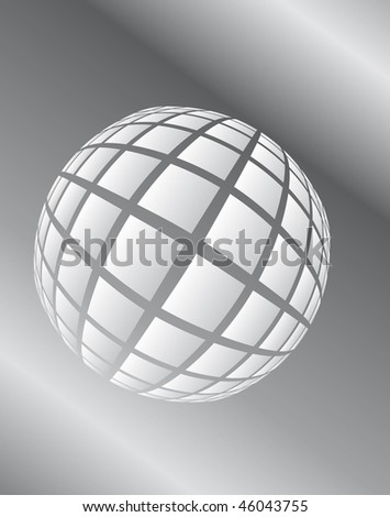 Gray surround the ball in space. Vector illustration